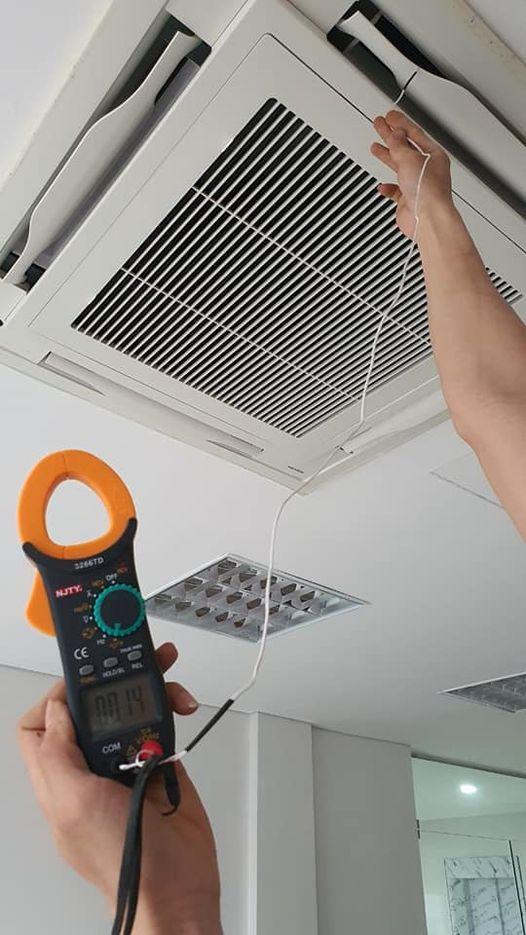 Lắp đặt hệ thống điều hòa công nghiệp toshiba cho công ty