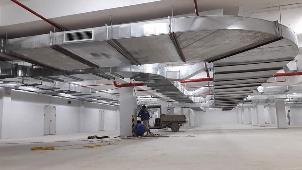 Lắp đặt các hệ thống điều hoà thông gió, tăng áp,hút khói, làm mát nhà xưởng...